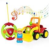 RC Radio Control Truck Toy for Toddlers Kids, Remote Control Truck with Sound, Yellow