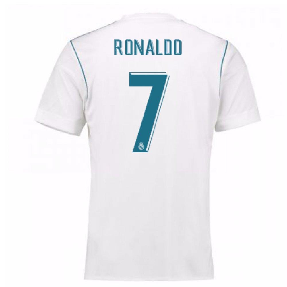 2017-18 Real Madrid Home Shirt (Ronaldo 7) B077YM8DQNWhite Small 36-38\