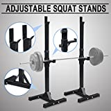 F2C Pair of Adjustable Rack Sturdy Steel Squat Barbell Free Bench Press Stands GYM/Home Gym Portable Dumbbell Racks Stand (one pair/2 pcs)