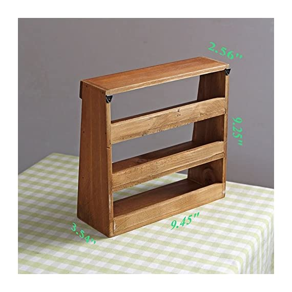 Brilliant Yumu Rustic Wooden Freestanding Wall Mounted Organizer 3 Home Interior And Landscaping Oversignezvosmurscom