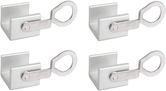 Rziioo 4pcs Correderas de Ventana corrediza Aleación de Aluminio Puerta Ajustable Puerta travesaño de la Puerta con Llaves: Amazon.es: Deportes y aire libre