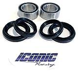 #3: 00-06 Honda Rancher 350 400 4x4 Fourtrax TRX350FE TRX350FM TRX400FA TRX400FGA BOTH Front Wheel Bearing & Seal Kits (4x4 Only)