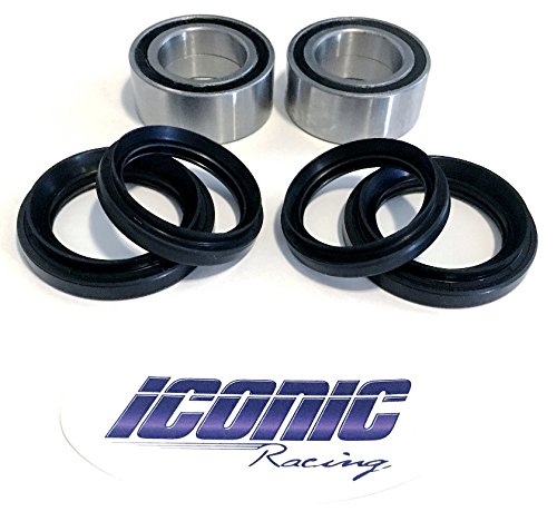 00-06 Honda Rancher 350 400 4x4 Fourtrax TRX350FE TRX350FM TRX400FA TRX400FGA BOTH Front Wheel Bearing & Seal Kits (4x4 Only)