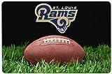 NFL St. Louis Rams Classic Football Pet Bowl Mat, Large