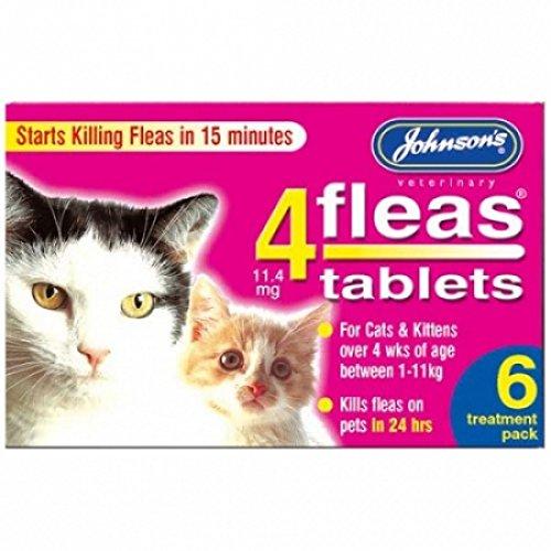 6 pk Johnsons 4Fleas Cat Flea Tablets