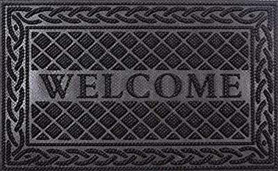 Mibao Entrance Door Mat, 18 x 30 inch Winter Durable Large Heavy Duty Front Outdoor Rug, Non-Slip Welcome Doormat for Entry, Patio