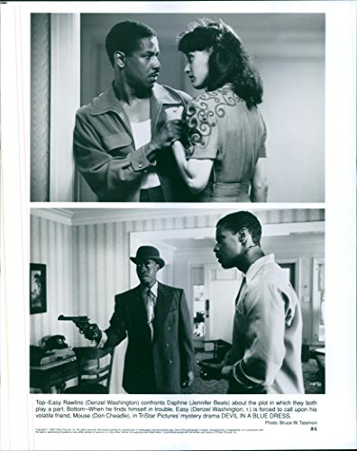 Vintage photo of Denzel Washington, Jennifer Beals and Don Cheadle star in a 1995 American neo-noir mystery film,