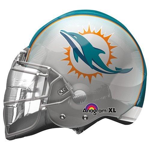 Anagram 27809 NFL Miami Dolphins Football Helmet Foil Balloon, 21