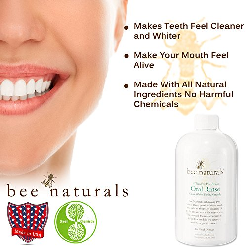 Best Whitening Pre-brush Oral Rinse - Clean White Teeth Naturally - Includes Xylitol - Beautiful Smile & Fresh Breath - Neutralizes Odor & Germs - No Harmful Chemicals, Alcohol, Artificial Sweeteners by Bee Naturals (Image #5)'