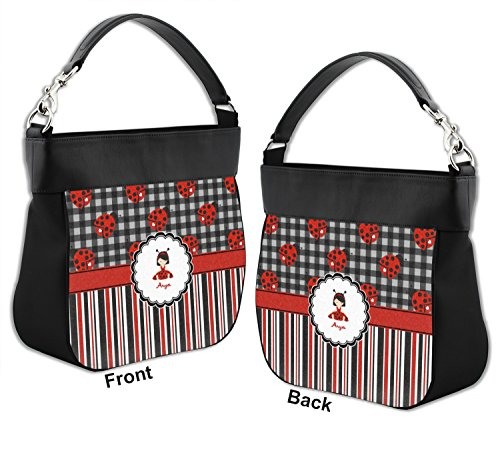 amp; Personalized w amp; Trim Leather Hobo Front Genuine Ladybugs Purse Stripes Back fxwRdqCq