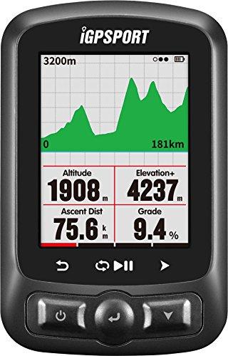 iGPSPORT Fahrradcomputer GPS ANT+ Funktion iGS618 mit Straßenkarte Navigation Navi Fahrradcomputer Funk Kabellos(Unterstützung Anzeige in Deutsch)