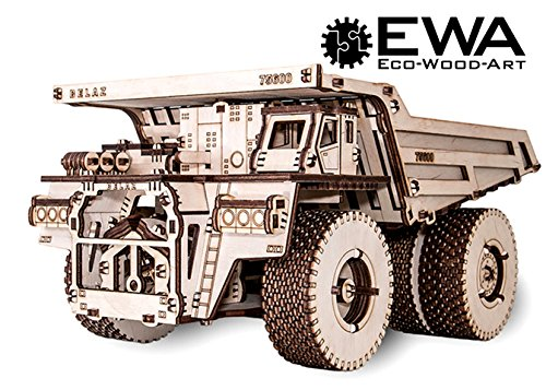 3D Assembly Wooden Puzzle Laser-Cut DIY Truck EWA