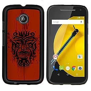"""Be-Star Único Patrón Plástico Duro Fundas Cover Cubre Hard Case Cover Para Motorola Moto E2 / E(2nd gen)( Dragón tribal indio nativo Red Pattern"""" )"""