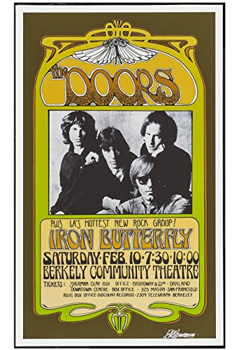 The Doors Concert Poster - Old Tin Sign Concert Posters The Doors And Iron Butterfly