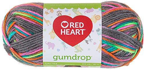 Coats: Yarn RED HEART Gumdrop Yarn, Rock Candy ()