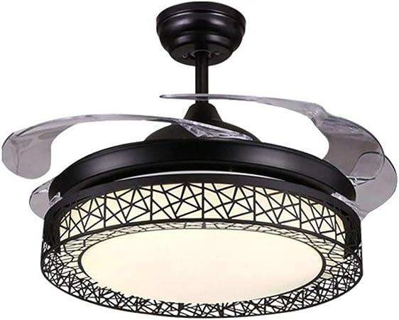 MMD Ventilador de Techo Lámpara de Techo Ventilador Negro