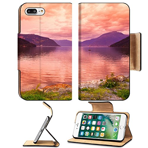 Liili Premium Apple Iphone 7 Plus Flip Pu Leather Wallet Case Sunset In Fjord Hardanger Norway Nature And Travel Background Iphone7 Plus Image Id 39021222