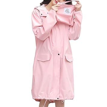 Poncho Regenjacke Regenmantel Leicht Faltbar f/ür Fahrrad Camping Zubeh/ör Outdoor Color : Beige UCYG Regencape Regenponcho Wasserdicht Atmungsaktiv Damen