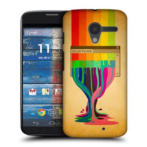 Head Case Designs Colour Picker Colour Drips Protective Snap-on Hard Back Case Cover for Motorola Moto X