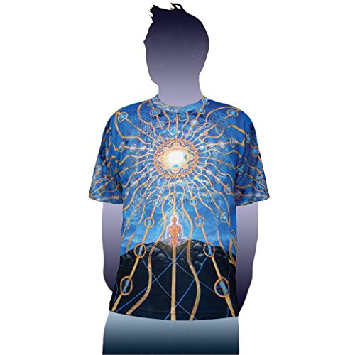 Alex Grey T-shirts (Nature of Mind Visionary Art Alex Grey T-Shirt | Crystal Tara - CT71-43 (Large))