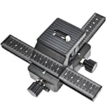 Inseesi 4 Way Macro Focusing Rail Slider with Standard 1/4'' Screw for Canon Nikon Sony Digital SLR Camera and DC