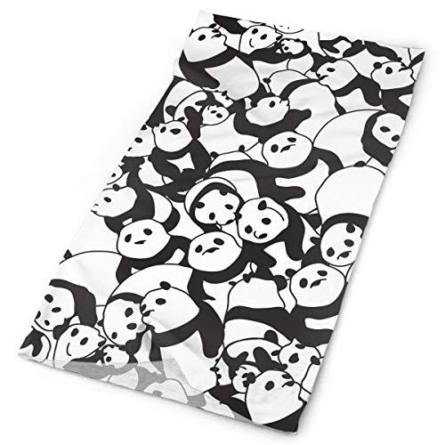 TDynasty Cute Panda Scarf Head Wrap Fashion Headwear Bandanas Variety Headband Face Masks for Outdoor UV Protection