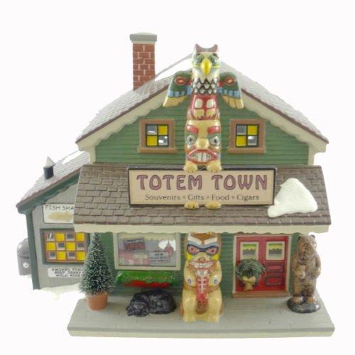 Dept 56 Buildings TOTEM TOWN SOUVENIR SHOP 55053 Christmas Snow Village New