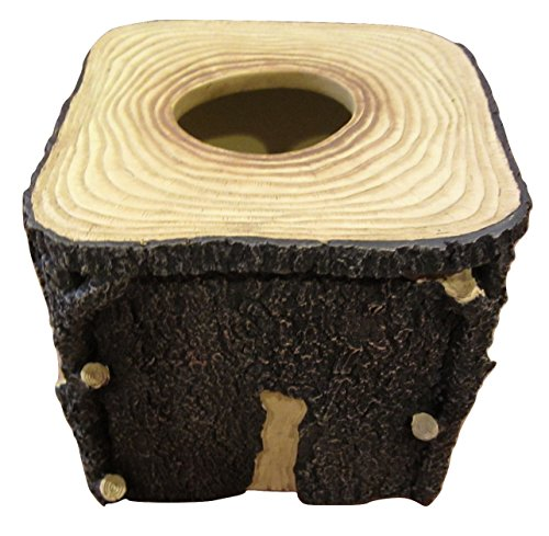 Blonder Home Timberwood Woolrich Lodge Rustic Log Cabin Bath Tissue Box Cover