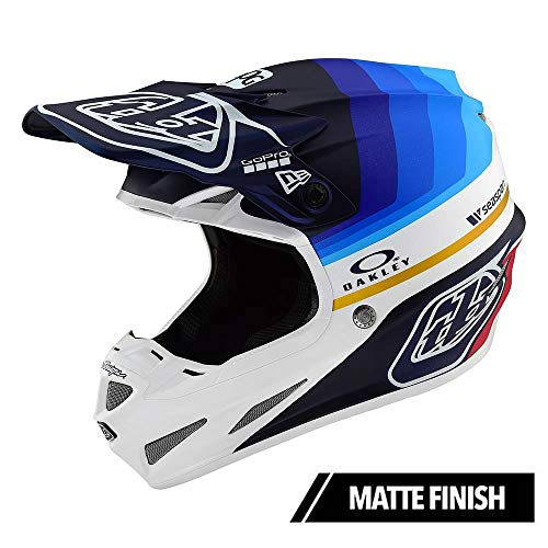Troy Lee Designs Adult | Offroad | Motocross | Limited Edition SE4 Carbon Mirage Helmet with MIPS (Medium, Navy/White)