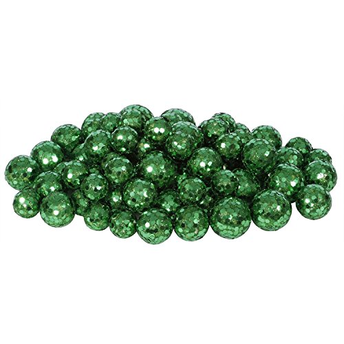 72ct Emerald Green Sequin and Glitter Christmas Ball Decorations 0.8