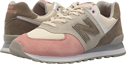 New Balance Men's 574 Serpent Luxe Sneaker,Bone with Dusted Peach,18 2E (Sporty Bone)