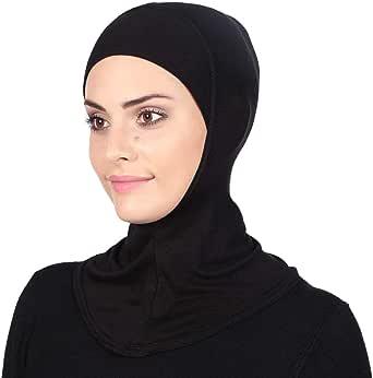 GERINLY Solid Women's Muslin Hijab Jersey Head Scarf Plain Under Scarf Muslimah Turban Cap Scarf