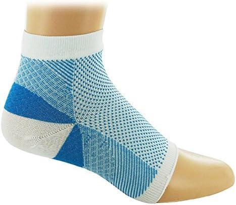 Prestige Medical Plantar Fasciitis Sock, White And Sky Blue, Medium, 2.5 Ounce