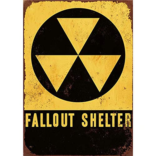 CBTsupply Fallout SHELTER Retro Metal Sign and Plaques Vintage Tin Wall Poster for Coffee Bar 30x20cm ()
