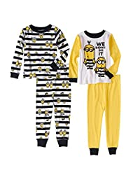 Despicable Me Little Boys Toddler Minion 4 Pc Cotton Pajama Set