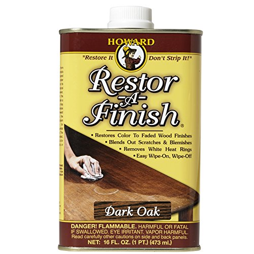 Howard Products RF7016 Restor-A-Finish, 16 oz, Dark - Howard Cherry Desk