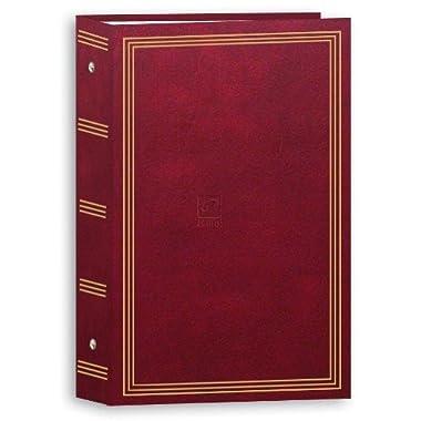 3-ring pocket BURGUNDY album for 504 photos - 4 X6
