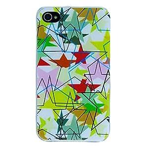CECT STOCK Caja colorida de cinco puntas Modelo de estrella para el iPhone 4/4S