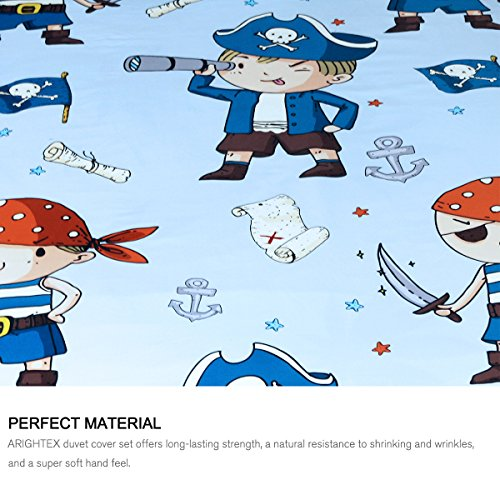 ARIGHTEX Pirate Boy Blanket Nautical Themed Sherpa Fleece Blanket Ultra Soft Blue and Orange Pirates Teens college dorm throw blanket (50 x 60 Inches) by ARIGHTEX (Image #2)