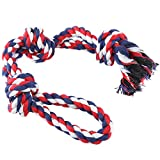 DURSAG Large Dog Rope Toys for Aggressive Chewers - Indestructible Dog Chew Toy Interaction Durable Cotton Teething Training Toy for Medium to Large Dogs - Tug of War Puppy Toy