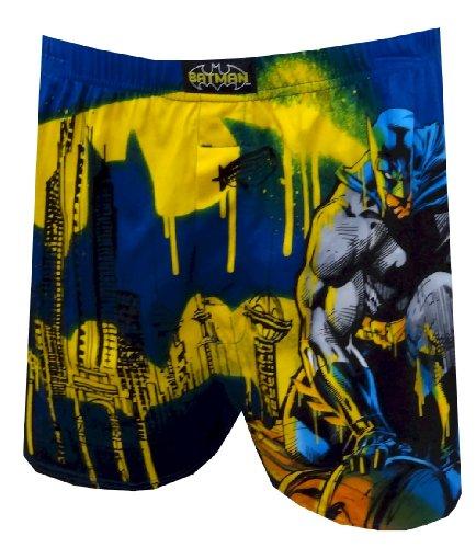 DC Comics Batman Gotham City Scape Boxer Shorts for men (Small)