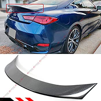 Real Carbon Fiber Trunk Spoiler PSM Style For Infiniti Q60 Q60S Coupe 2017-2019