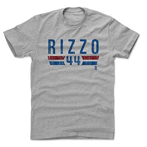 500 LEVEL Anthony Rizzo Cotton Shirt XX-Large Heather Gray - Chicago Baseball Men's Apparel - Anthony Rizzo Font B