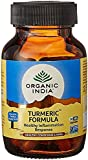 Organic India Turmeric Formula (pack of 3) 60 capsule x 3 bottle = 180 capsule expedited shipping