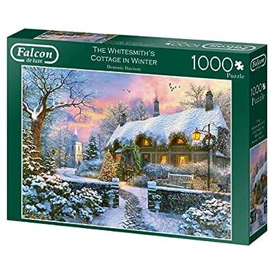 Jumbo 11227 Falcon De Luxe The Whitesmith Cottage In Inverno Puzzle Da 1000 Pezzi