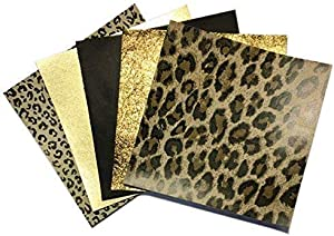 Sweepstakes: Leopard Leather Skin Hide Sheets: 5 Brown Scrap…