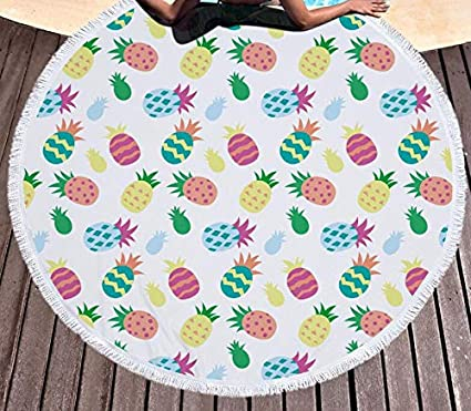Amazon.com: WLEZY Beach Towel 150cm Summer Fruit Microfiber ...