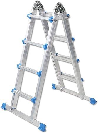 LMLSH Escalera Escalera Multifunción De Aleación De Aluminio Escalera Plegable Retráctil para El Hogar Escalera Ascendente: Amazon.es: Hogar