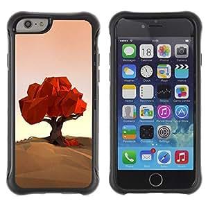 """Hypernova Defender Series TPU protection Cas Case Coque pour Apple Iphone 6 PLUS 5.5 [Polígono Arte Naturaleza Otoño Otoño""""]"""