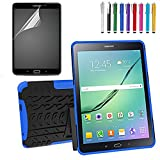 GoldCherry Shockproof Heavy Duty Rugged Hybrid Kickstand Case for Samsung Galaxy Tab S2 T810 9.7